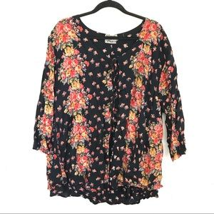 Vintage New Options by Kate Geddes Floral Blouse